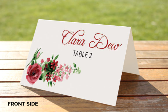 Download Free Wedding Place Card Template Graphic By Sistecbd Creative Fabrica for Cricut Explore, Silhouette and other cutting machines.
