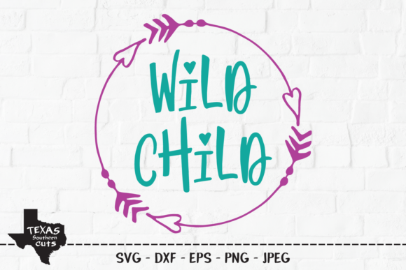 Wild Child Outdoor Shirt Design Graphic By Texassoutherncuts