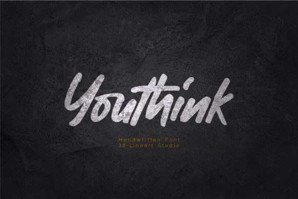 Print on Demand: Youthink Script & Handwritten Font By 38.lineart