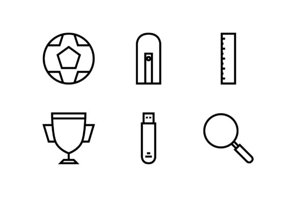 Award Black and White Line Icon Graphic Icons By muhammadfaisal40