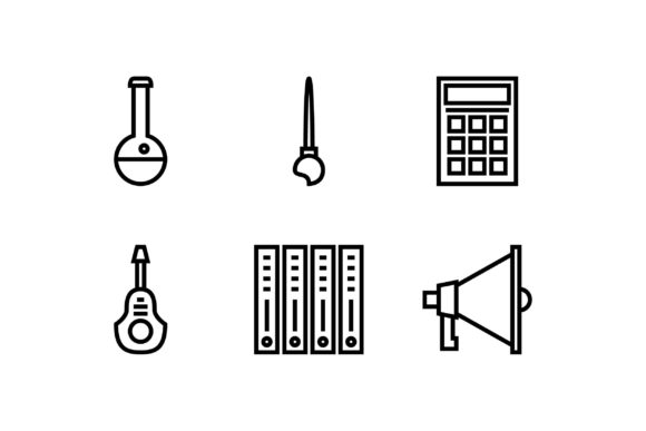 Calculator Black and White Line Icon Graphic Icons By muhammadfaisal40
