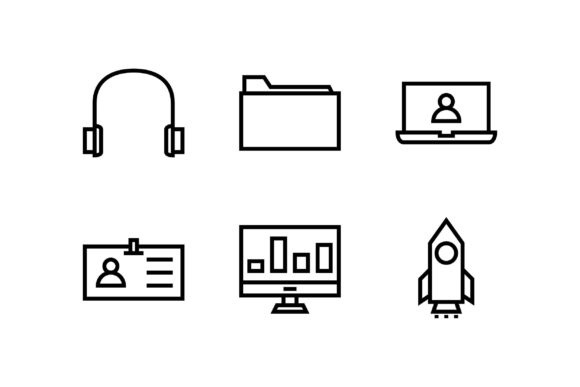 Education Black and White Line Icon Graphic Icons By muhammadfaisal40