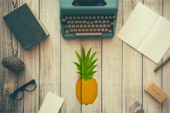 Download Free Fresh Pineapple Fruit Graphic By Sabavector Creative Fabrica for Cricut Explore, Silhouette and other cutting machines.