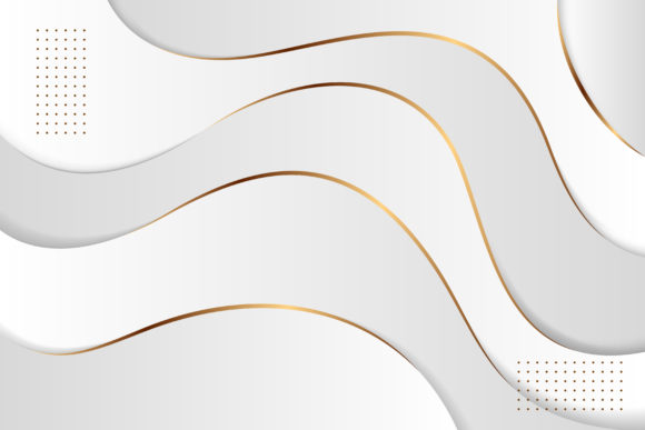 Download Free Grey Gold White Background Wave Graphic By Noory Shopper for Cricut Explore, Silhouette and other cutting machines.