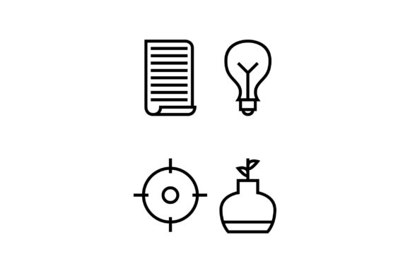 Lamp Black and White Line Icon Graphic Icons By muhammadfaisal40