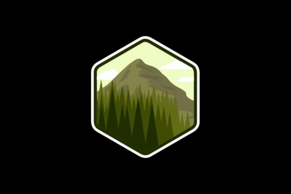 Download Free Mountain Ecology Logo Flat Badge Graphic By Artpray Creative for Cricut Explore, Silhouette and other cutting machines.