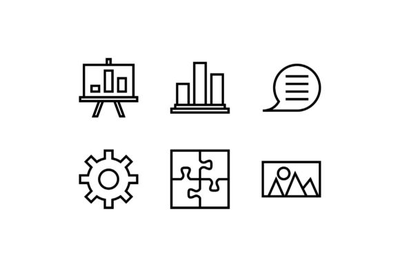 Setting Black and White Line Icon Graphic Icons By muhammadfaisal40