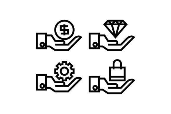 Sharing Black and White Line Icon Graphic Icons By muhammadfaisal40