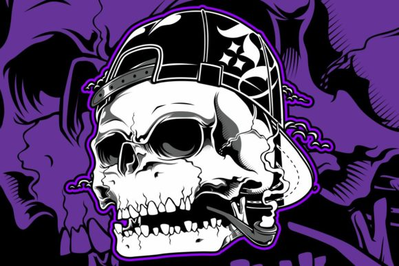 Skull Wearing Hat Smoking Cigar Skull Graphic By Epic Graphic