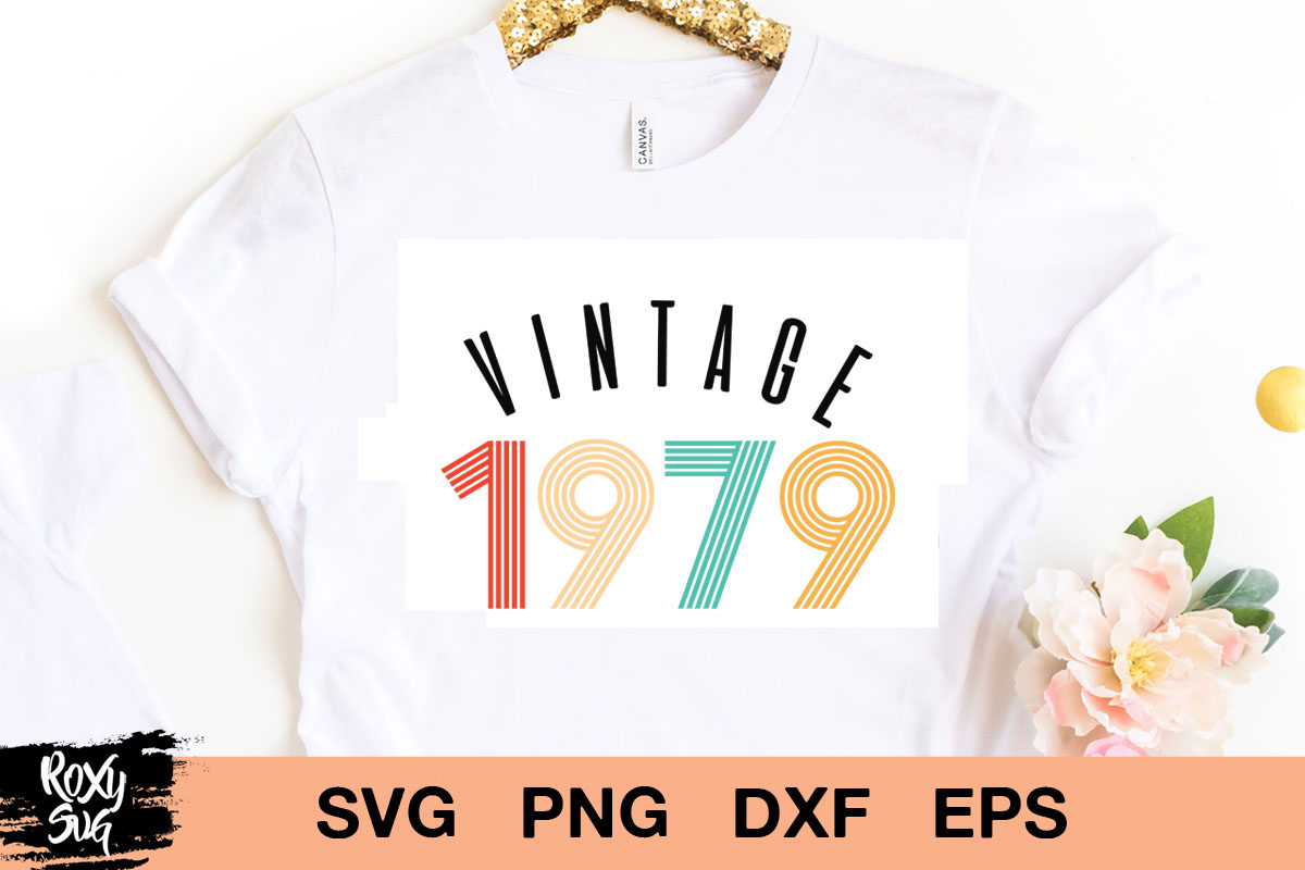 Download Free Vintage Birthday 1979 Graphic By Roxysvg26 Creative Fabrica for Cricut Explore, Silhouette and other cutting machines.