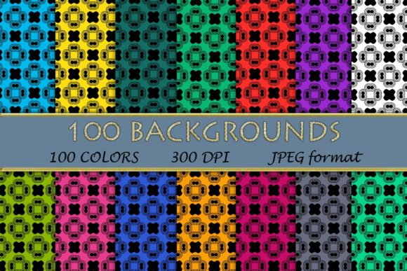 100 Geometric Patterns-043 Graphic Backgrounds By SweetDesign
