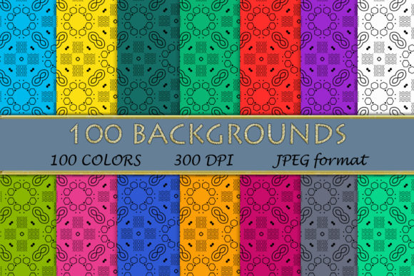 100 Geometric Patterns-052 Graphic Backgrounds By SweetDesign
