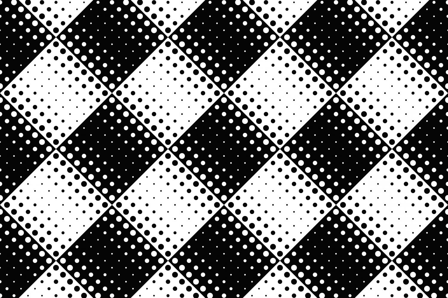 Download Free Abstract Black And White Dot Pattern Graphic By Davidzydd for Cricut Explore, Silhouette and other cutting machines.