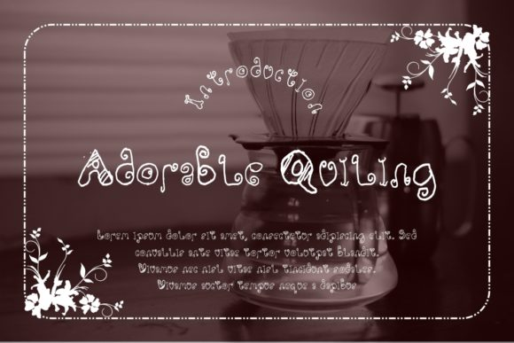 Print on Demand: Adorable Quiling Display Font By Gblack Id