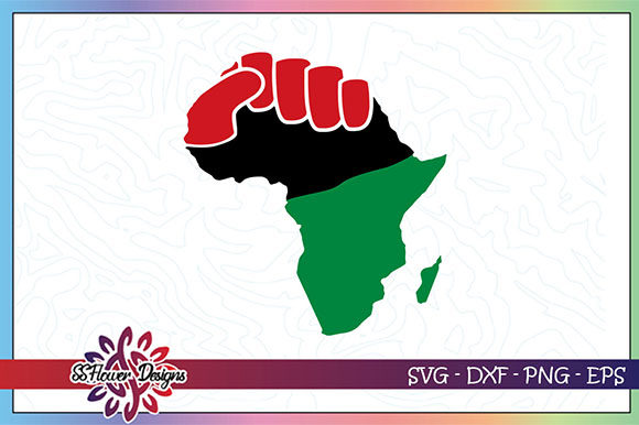 Download Free Africa Fist And Map Graphic By Ssflower Creative Fabrica for Cricut Explore, Silhouette and other cutting machines.