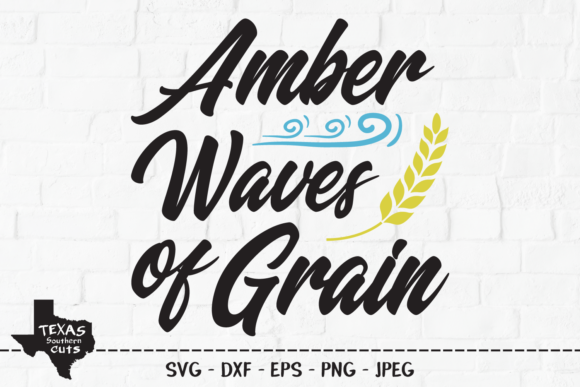 Download Free Amber Waves Of Grain Patriotic Design Graphic By for Cricut Explore, Silhouette and other cutting machines.