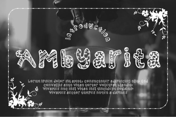 Print on Demand: Ambyarita Dingbats Font By Gblack Id