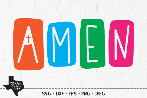 Print on Demand: Amen - Christian Shirt Design Graphic Crafts By texassoutherncuts