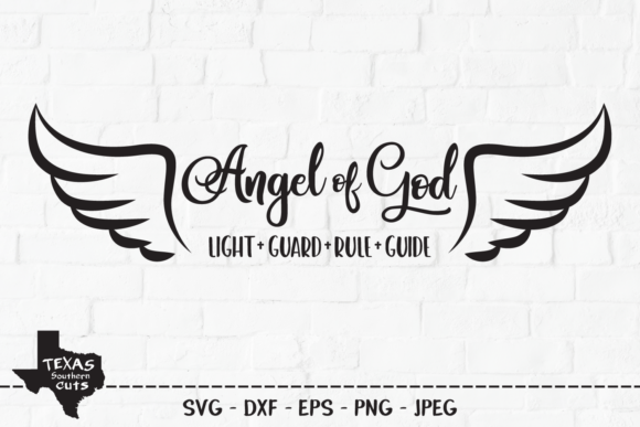 Download Free Angel Of God Christian Shirt Design Graphic By for Cricut Explore, Silhouette and other cutting machines.