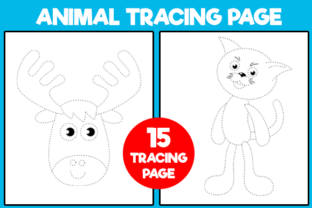 Print on Demand: Animal Tracing Page for Kids Graphic KDP Interiors By MK DESIGNS