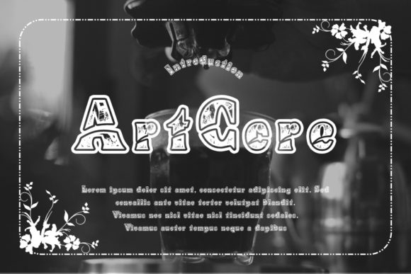 Print on Demand: ArtCore Display Font By Gblack Id