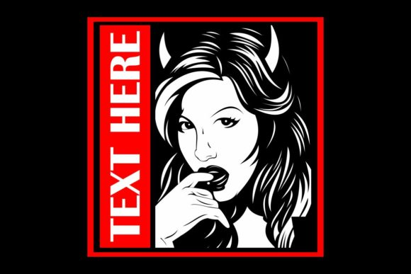 Attractive Woman with Horns Graphic Illustrations By Epic.Graphic