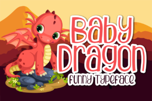 Print on Demand: Baby Dragon Display Font By brithostype 1