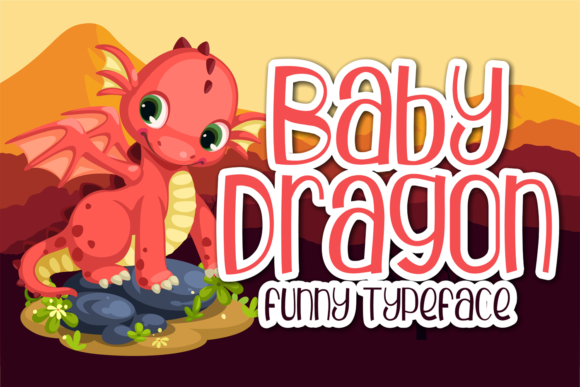 Print on Demand: Baby Dragon Display Font By brithostype - Image 1
