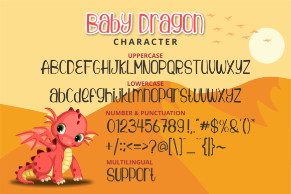 Download Free Baby Dragon Font By Brithostype Creative Fabrica for Cricut Explore, Silhouette and other cutting machines.
