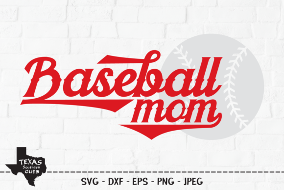 Download Free 1 Baseball Mother Designs Graphics for Cricut Explore, Silhouette and other cutting machines.