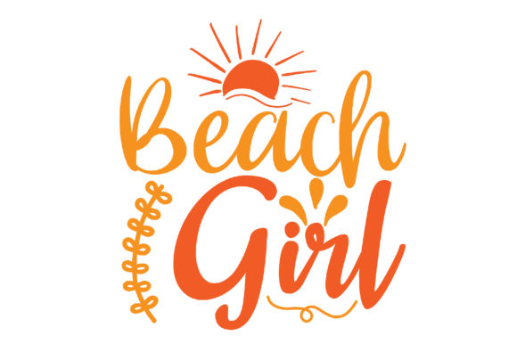 Download Free Beach Girl Craft Design Graphic By Svg Store Creative Fabrica for Cricut Explore, Silhouette and other cutting machines.