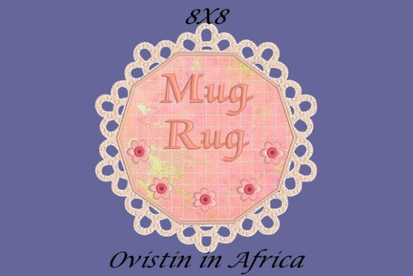 Beautiful FSL Mug Rug Sewing & Crafts Embroidery Design By Ovistin in Africa