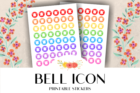 Bell Icon Printable Stickers Graphic By Atlasart Creative Fabrica
