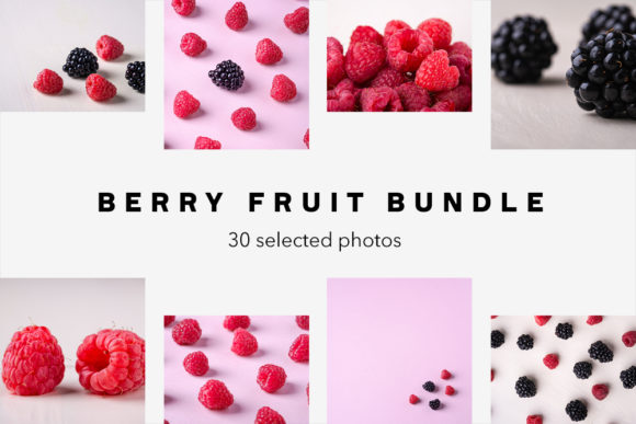 Print on Demand: Berry Fruit Photo Bundle, 30 Photos Graphic Food & Drinks By frostroomhead