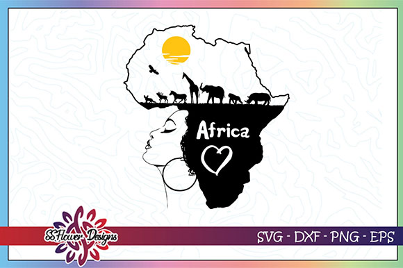 Download Free Black Woman Africa Map Graphic By Ssflower Creative Fabrica for Cricut Explore, Silhouette and other cutting machines.
