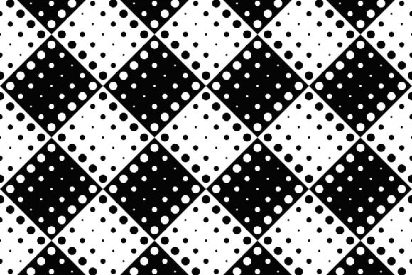 Download Free Black And White Dot Pattern Background Graphic By Davidzydd for Cricut Explore, Silhouette and other cutting machines.