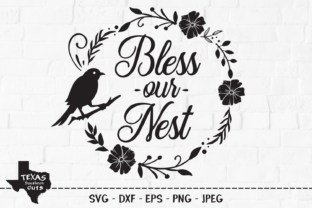 Download Free Bless Our Nest Country Design Graphic By Texassoutherncuts for Cricut Explore, Silhouette and other cutting machines.
