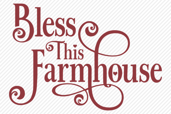 Download Free Bless This Farmhouse Country Design Graphic By for Cricut Explore, Silhouette and other cutting machines.