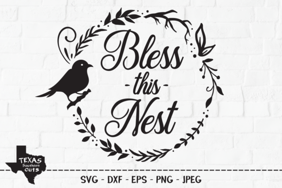 Download Free Bless This Nest Country Design Graphic By Texassoutherncuts SVG Cut Files