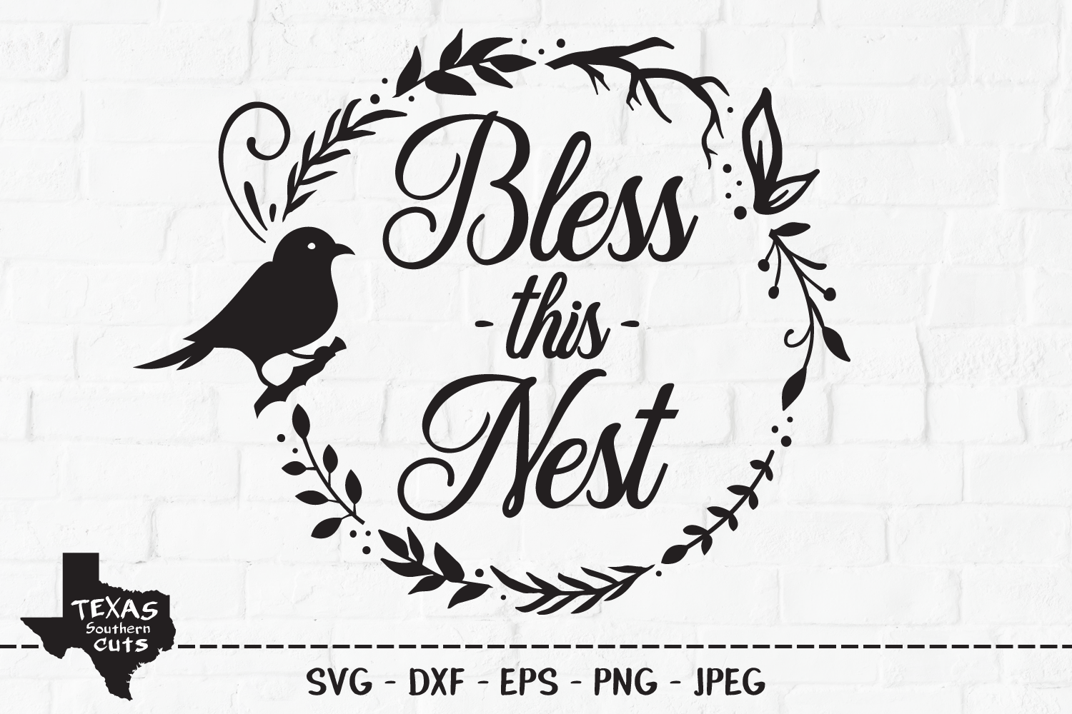 Download Free Bless This Nest Country Design Graphic By Texassoutherncuts for Cricut Explore, Silhouette and other cutting machines.