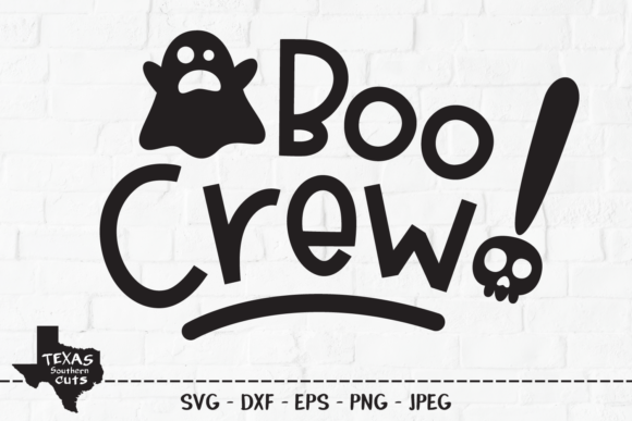 Download Free Boo Crew Halloween Shirt Design Graphic By Texassoutherncuts for Cricut Explore, Silhouette and other cutting machines.