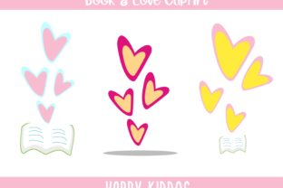 Book & Love ClipArt Graphic Illustrations By Happy Kiddos