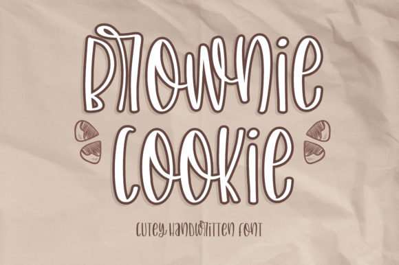Download Free Brownie Cookie Font By Bitongtype Creative Fabrica for Cricut Explore, Silhouette and other cutting machines.
