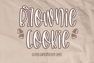 Print on Demand: Brownie Cookie Script & Handwritten Font By BitongType