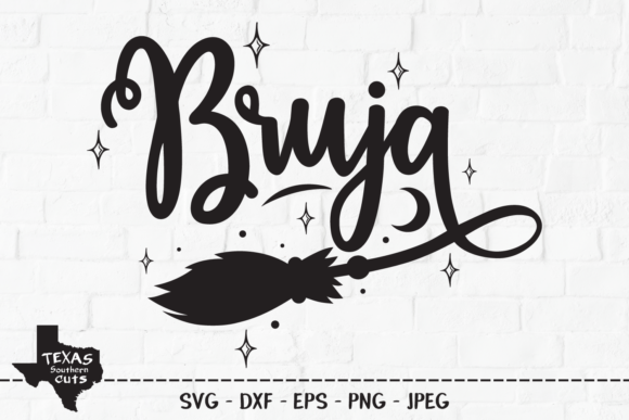 Download Free Bruja Halloween Shirt Design Graphic By Texassoutherncuts for Cricut Explore, Silhouette and other cutting machines.