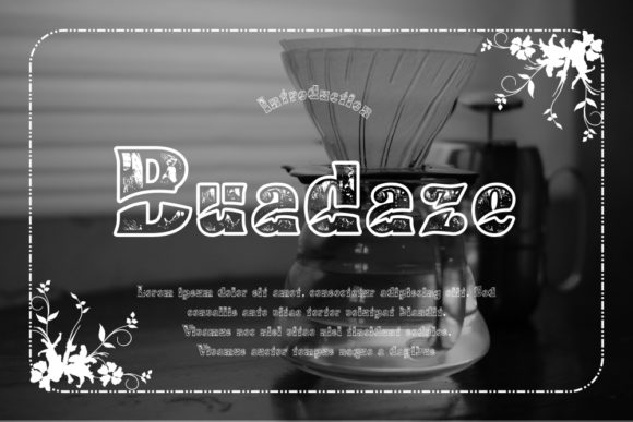 Print on Demand: Buadaze Display Font By Gblack Id