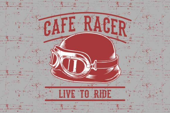Download Free Cafe Racer Biker Helmet With Inscription Graphic By Epic Graphic for Cricut Explore, Silhouette and other cutting machines.