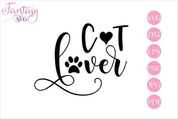 Download Free Cat Lover Grafico Por Fantasy Svg Creative Fabrica for Cricut Explore, Silhouette and other cutting machines.