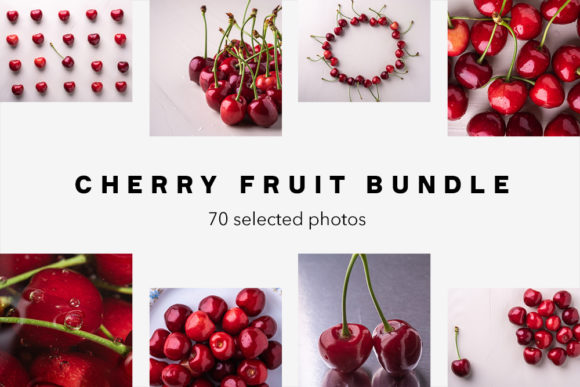 Print on Demand: Cherry Fruit Photo Bundle, 70 Photos Graphic Food & Drinks By frostroomhead
