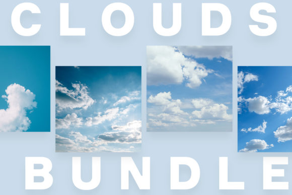 Download Free Clouds Photos Bundle 12 Photos Graphic By Frostroomhead for Cricut Explore, Silhouette and other cutting machines.